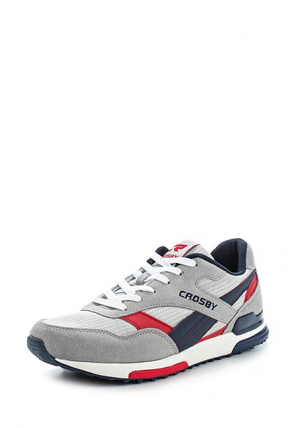 Кроссовки Crosby 257007/01-01-M бежевые, серые