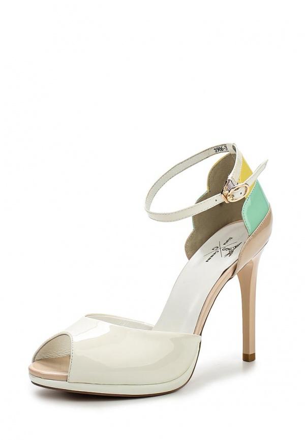 Туфли Sinta 3986-3002S-N1605APYT-M бежевые, белые