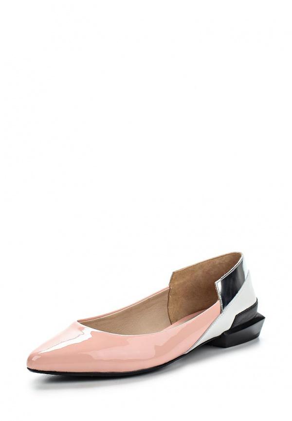 Туфли United Nude 1001444703S15,Ruby Ballerina белые, розовые, чёрные