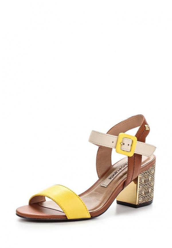 Босоножки Cravo & Canela 133104-1 жёлтые, коричневые, мультиколор