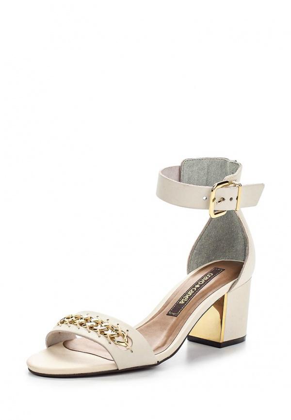 Туфли Cravo & Canela 133106-3 белые, золотистые