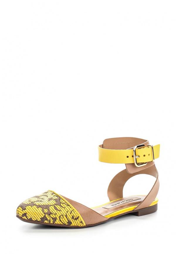Сандалии Cravo & Canela 133302-4 жёлтые, коричневые