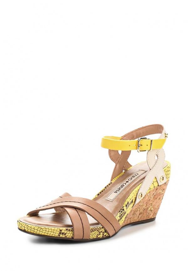Босоножки Cravo & Canela 97410-1 бежевые, жёлтые, коричневые