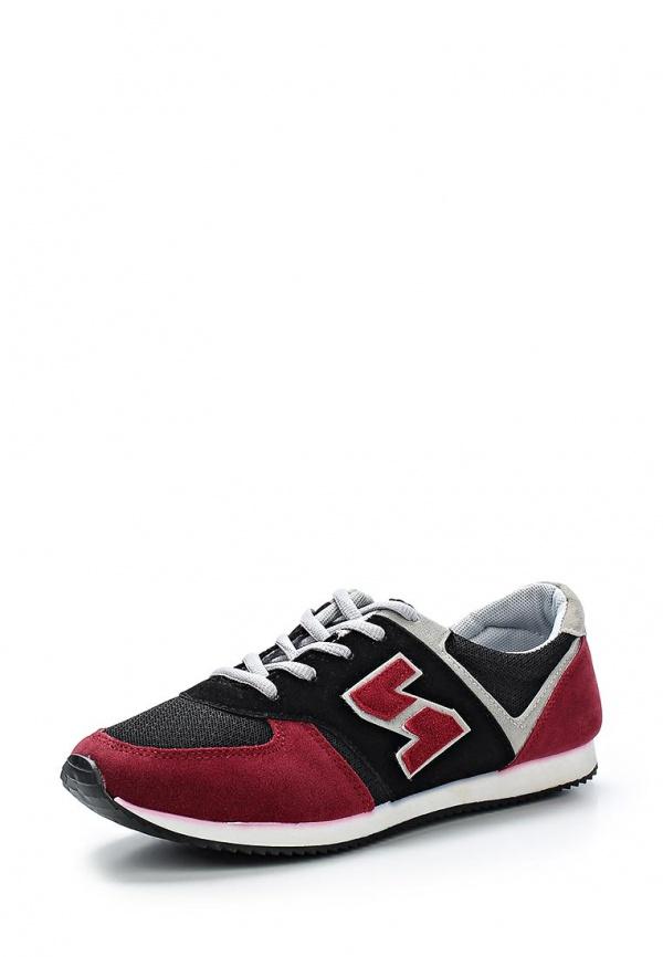Кроссовки WS Shoes AM-802 бордовые, чёрные