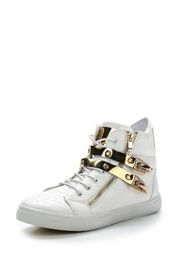 Кеды WS Shoes AM-191 белые, золотистые