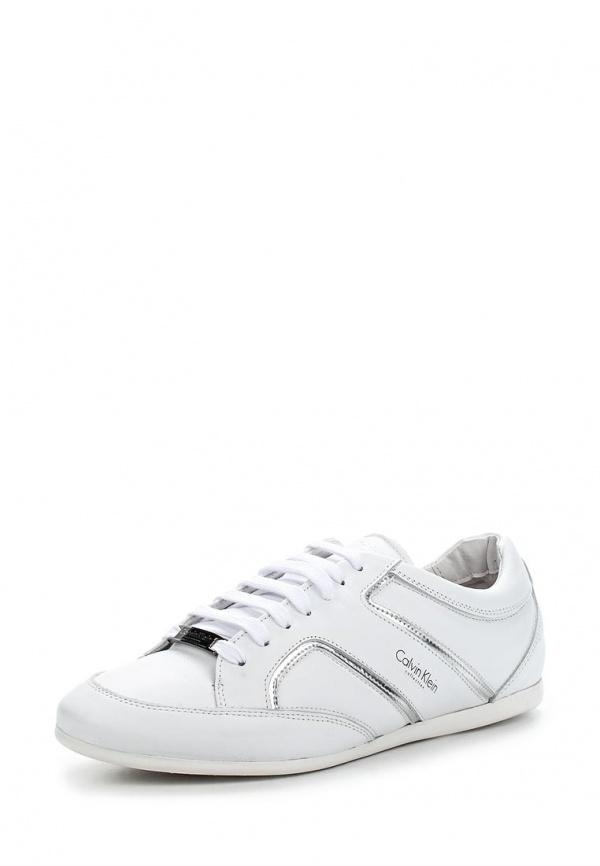 Кроссовки Calvin Klein Collection 5180 белые, серебристые