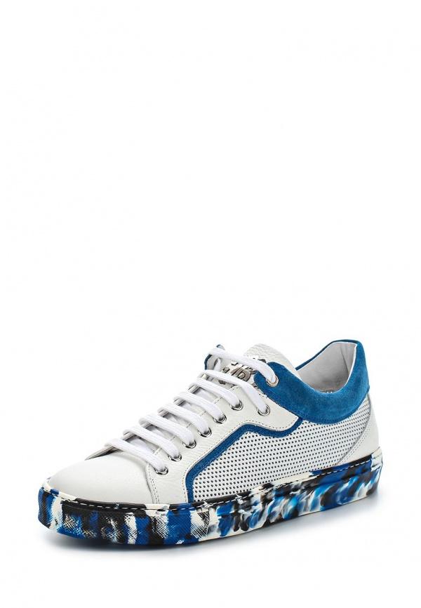 Кеды Roberto Cavalli 5470 белые, синие