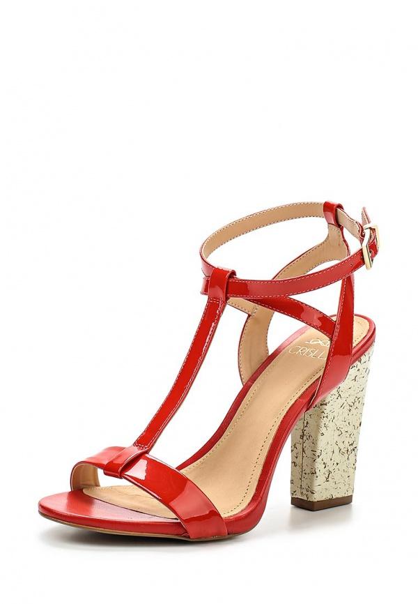 Босоножки Crislli 151116 красные