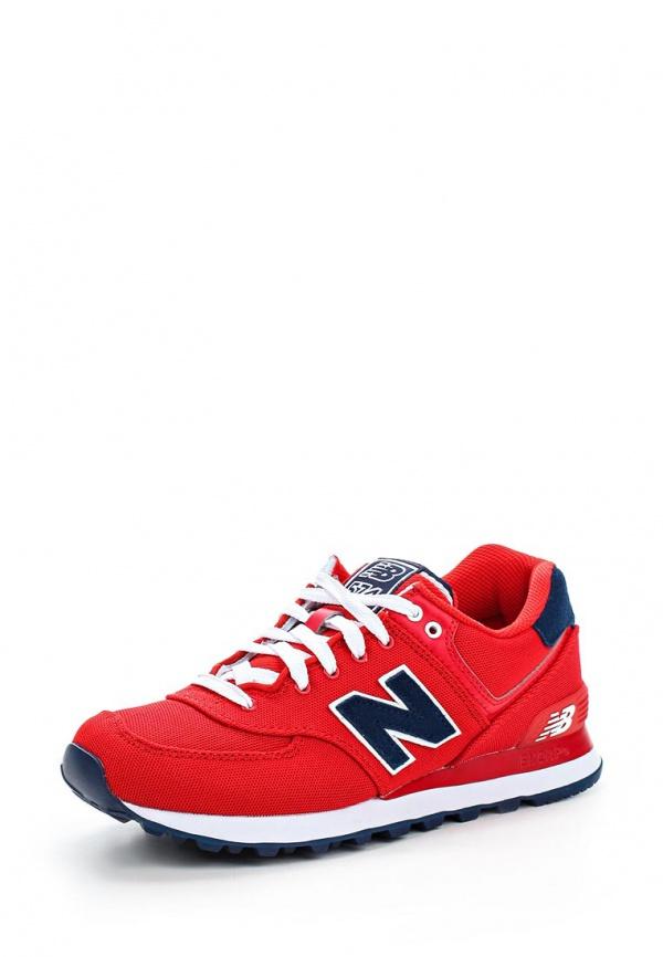 Кроссовки New Balance WL574POR красные