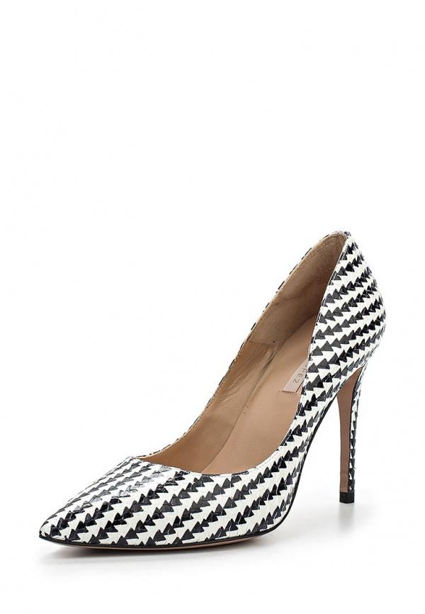 Туфли Pura Lopez ZAAF163P белые, чёрные
