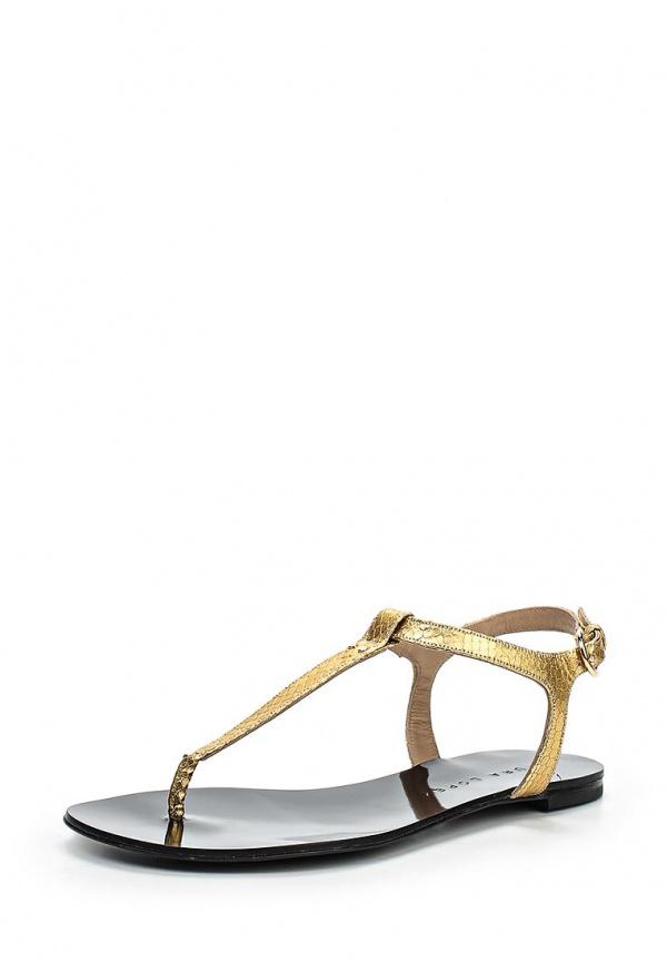 Сандалии Pura Lopez ZAAF670S золотистые, чёрные