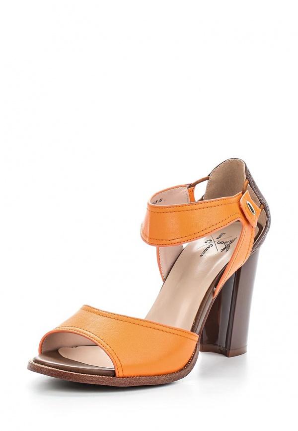 Босоножки Sinta 8715C-8BE-2-M коричневые, оранжевые