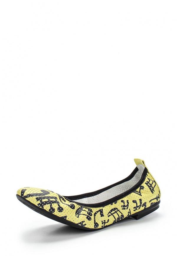 Балетки Grand Style 13662-4555 жёлтые, чёрные
