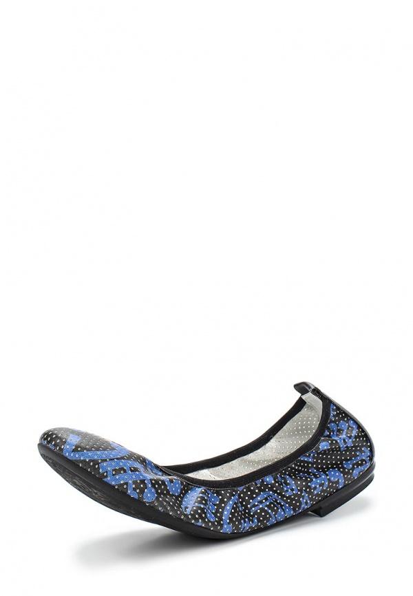 Балетки Grand Style 13662-4562 синие, чёрные