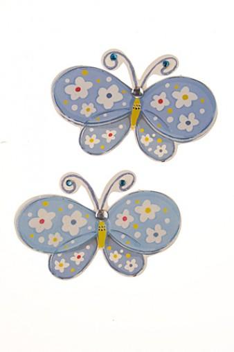 """Наклейки и аппликации Набор наклеек """"Голубые бабочки"""""""