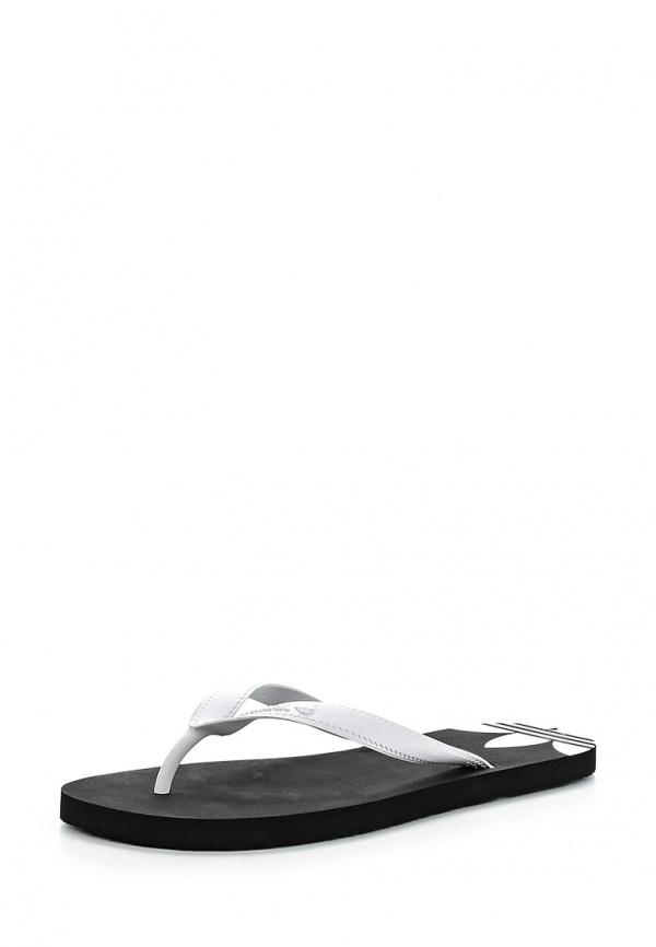 Сланцы adidas Originals D65625 белые, чёрные