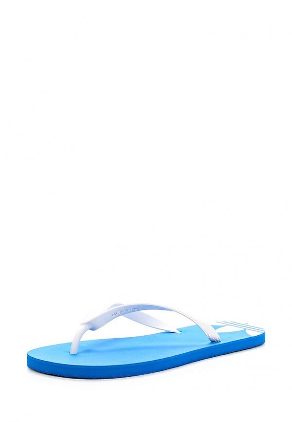 Сланцы adidas Originals D65626 белые, синие