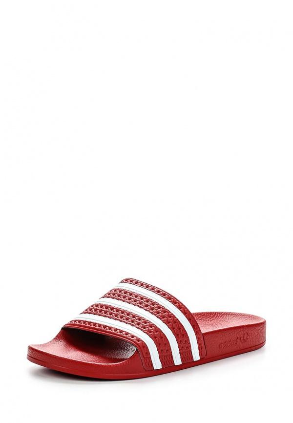 Сланцы adidas Originals 288193 белые, красные