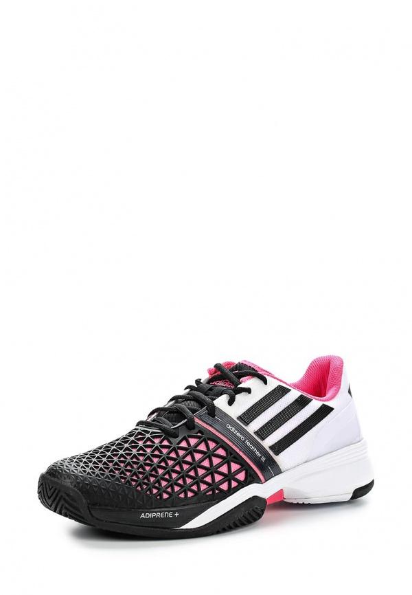 Кроссовки adidas Performance B44213 белые, розовые, чёрные