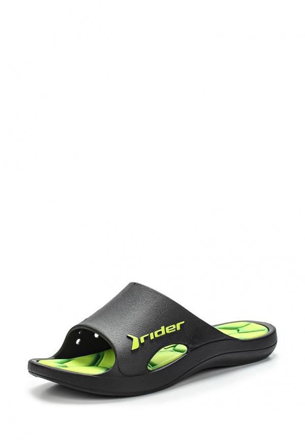 Сланцы Rider 81446-22629-B зеленые, чёрные