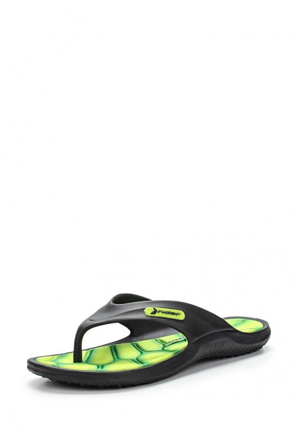 Сланцы Rider 81447-22629-B зеленые, чёрные