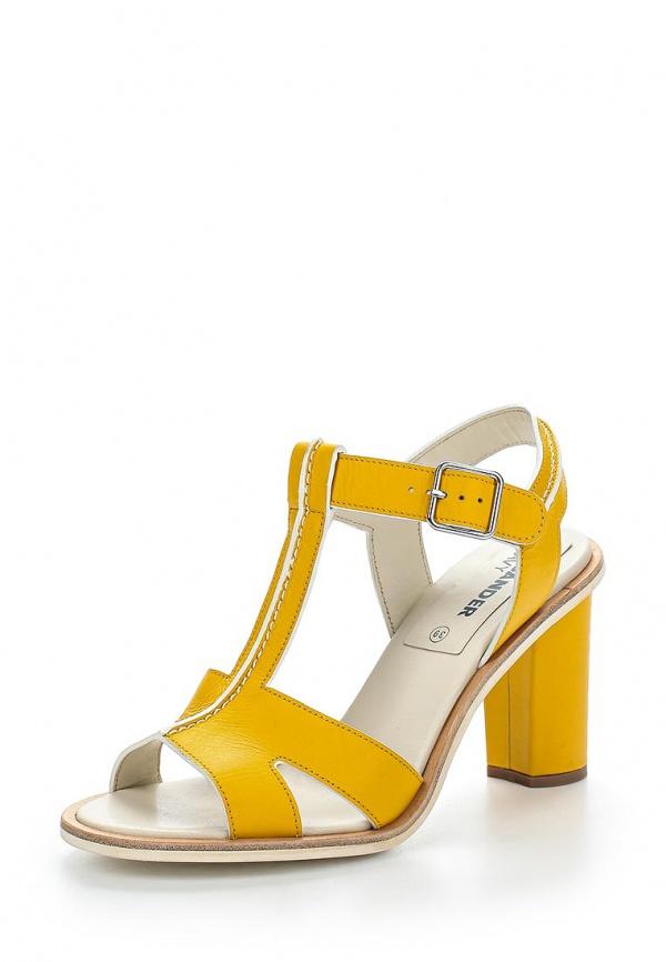 Босоножки Jil Sander Navy JN24014 жёлтые