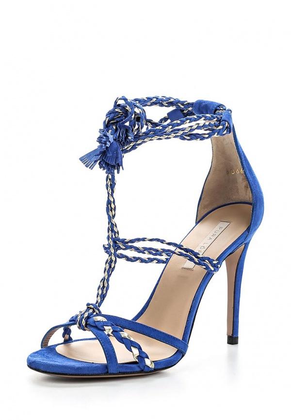Босоножки Pura Lopez ZAAF420 серебристые, синие