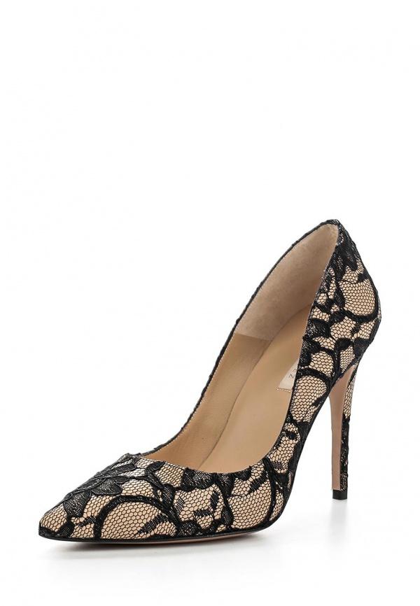 Туфли Pura Lopez ZAAF163 бежевые, чёрные