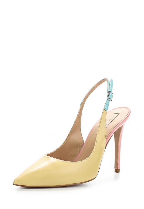Туфли Pura Lopez ZAAF164 жёлтые, розовые