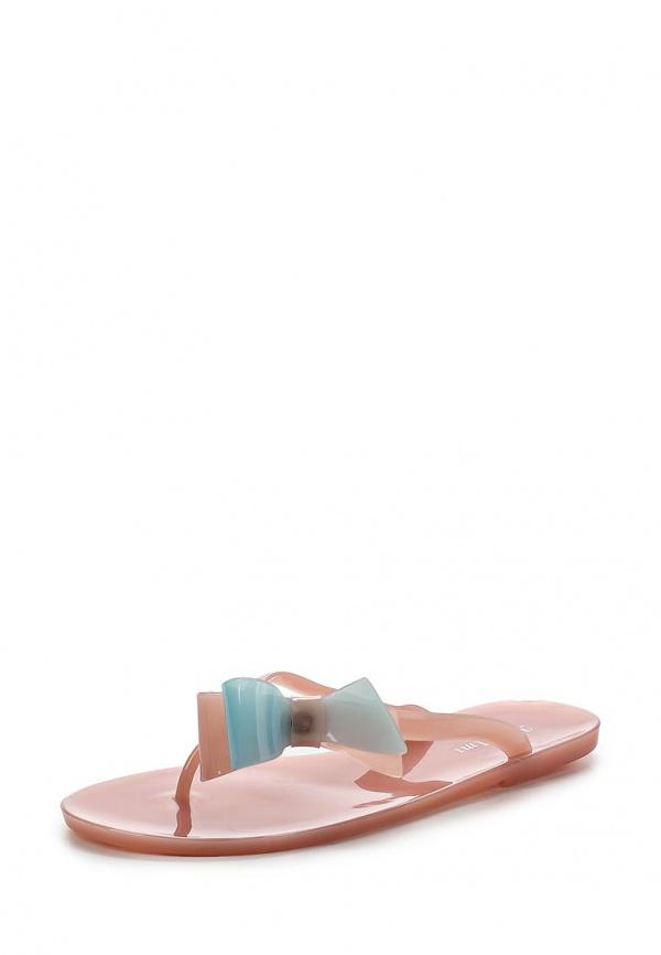 Сланцы Mon Ami 15S-4902 голубые, розовые