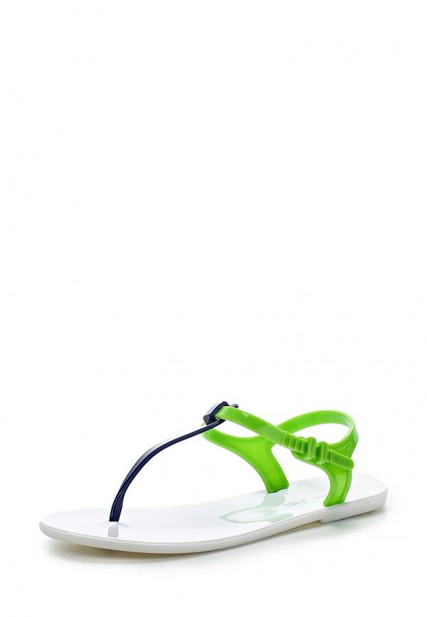 Сланцы Mon Ami S-5177 белые, голубые, зеленые