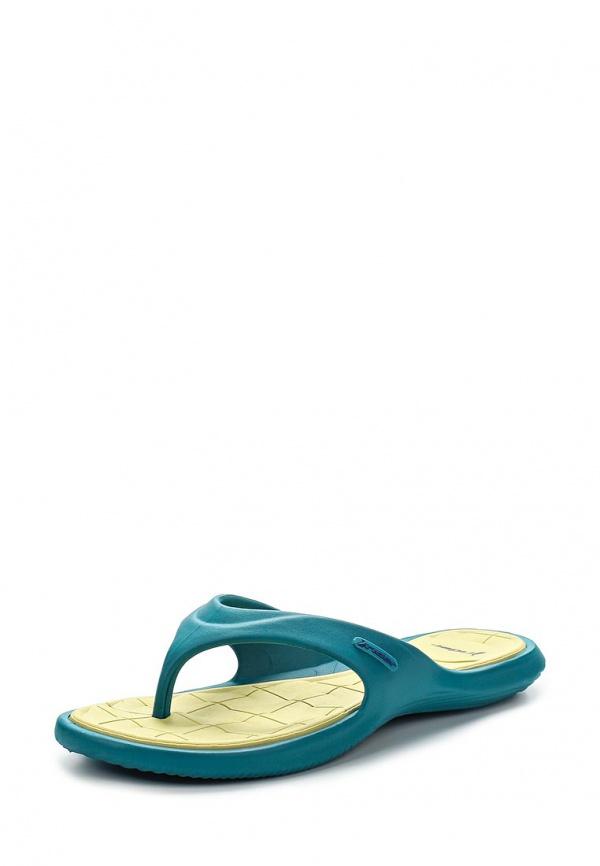 Сланцы Rider 81460-22573-A голубые, жёлтые