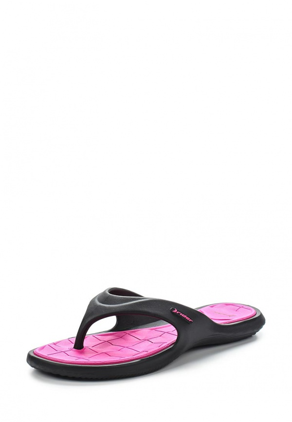 Сланцы Rider 81460-23757-A розовые, чёрные