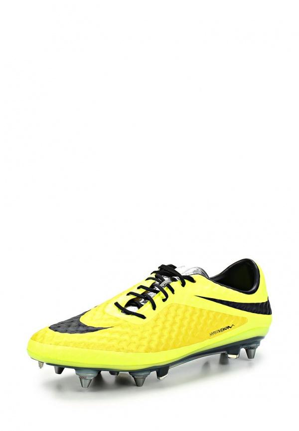Бутсы Nike 599851-700 жёлтые, чёрные