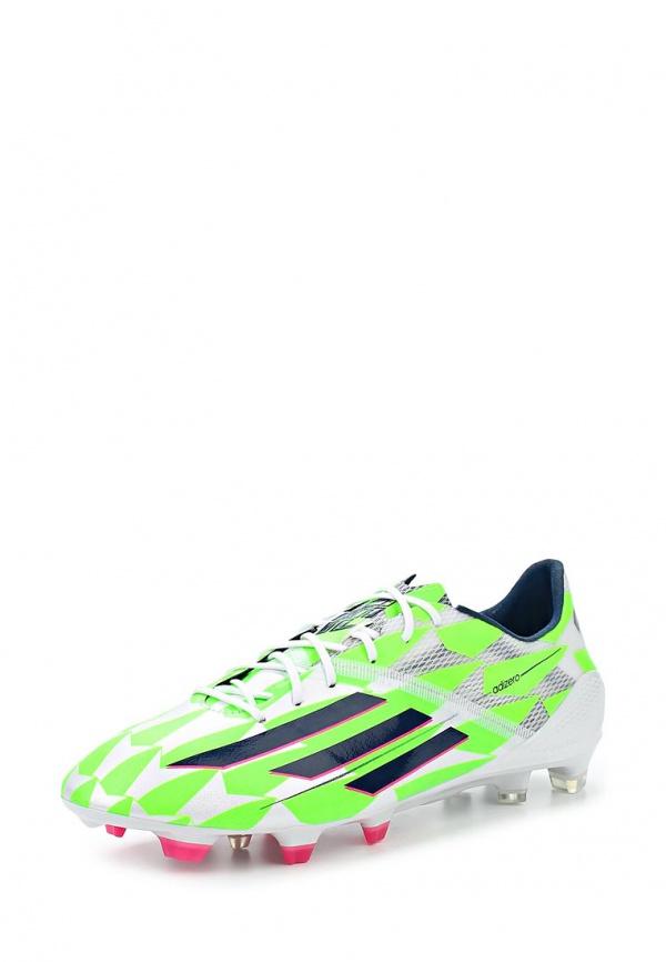 Бутсы adidas Performance M17679 белые, зеленые