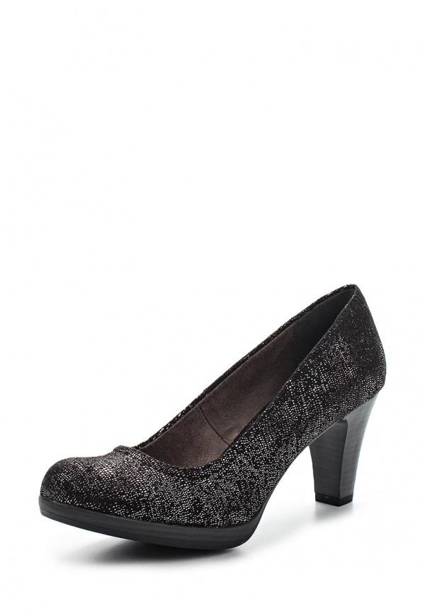 Туфли Tamaris 1-1-22409-24-011 серебристые, чёрные