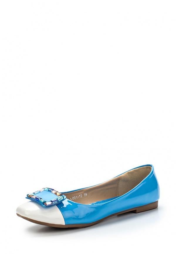 Балетки Vivian Royal J-001-12 белые, голубые