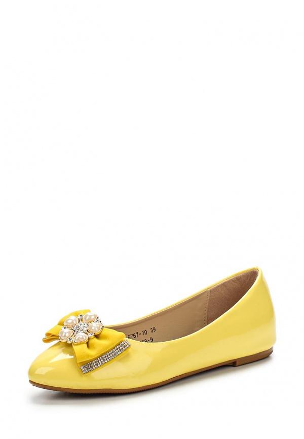 Балетки Vivian Royal J-008-9 жёлтые