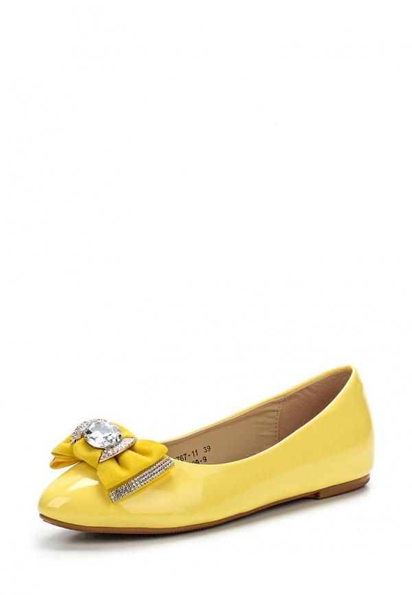 Балетки Vivian Royal J-009-9 жёлтые