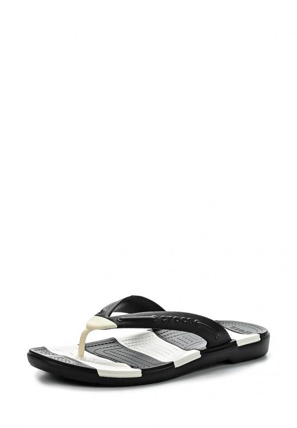 Сланцы Crocs 15335-066 белые, чёрные