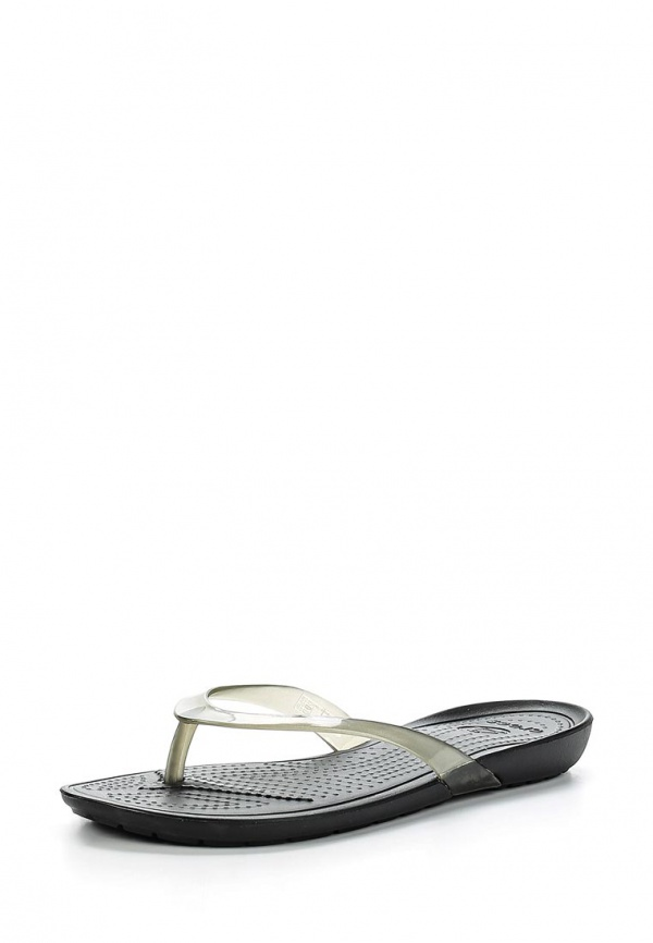 Сланцы Crocs 14174-060 прозрачный, чёрные