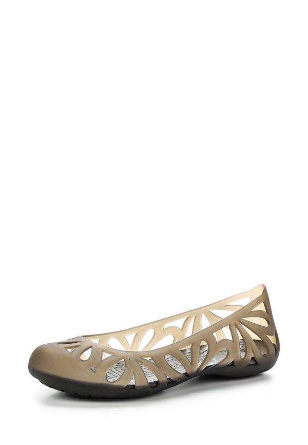 Балетки Crocs 14936-22Z коричневые, прозрачный