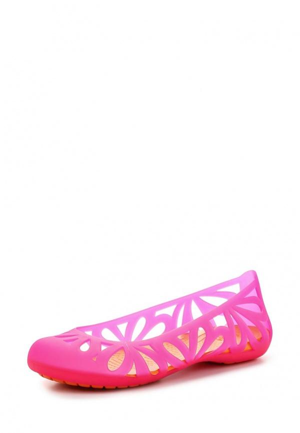 Балетки Crocs 14936-6BR оранжевые, розовые