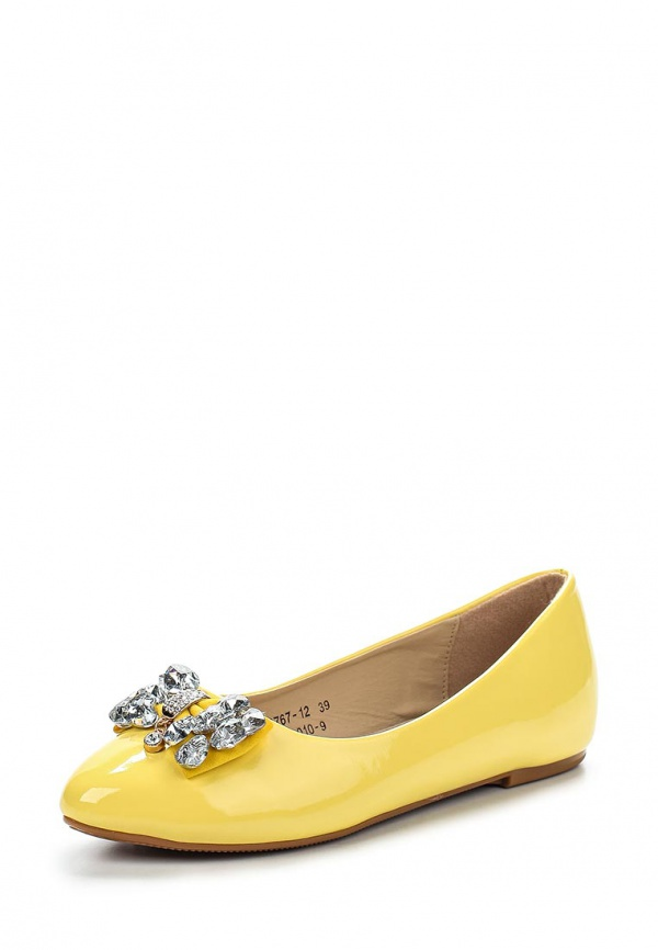 Балетки Vivian Royal J-010-9 жёлтые