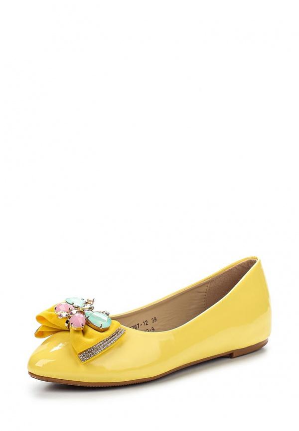 Балетки Vivian Royal J-012-9 жёлтые