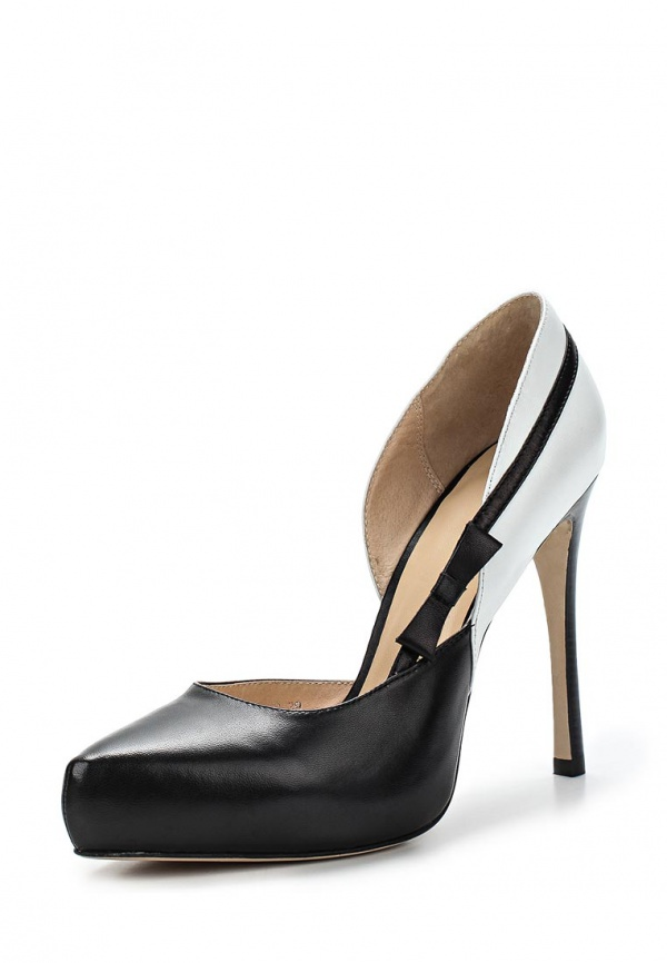Туфли Laura Valorosa 757110/11-01 белые, чёрные