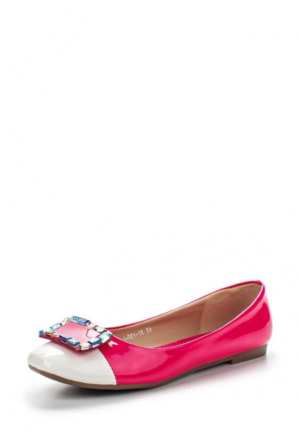 Балетки Vivian Royal J-001-18 белые, розовые