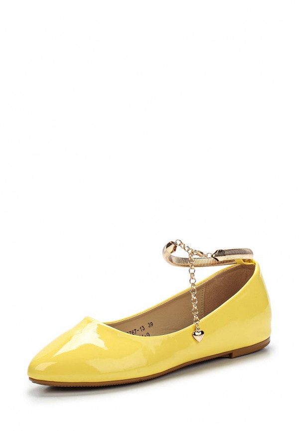 Балетки Vivian Royal J-011-9 жёлтые