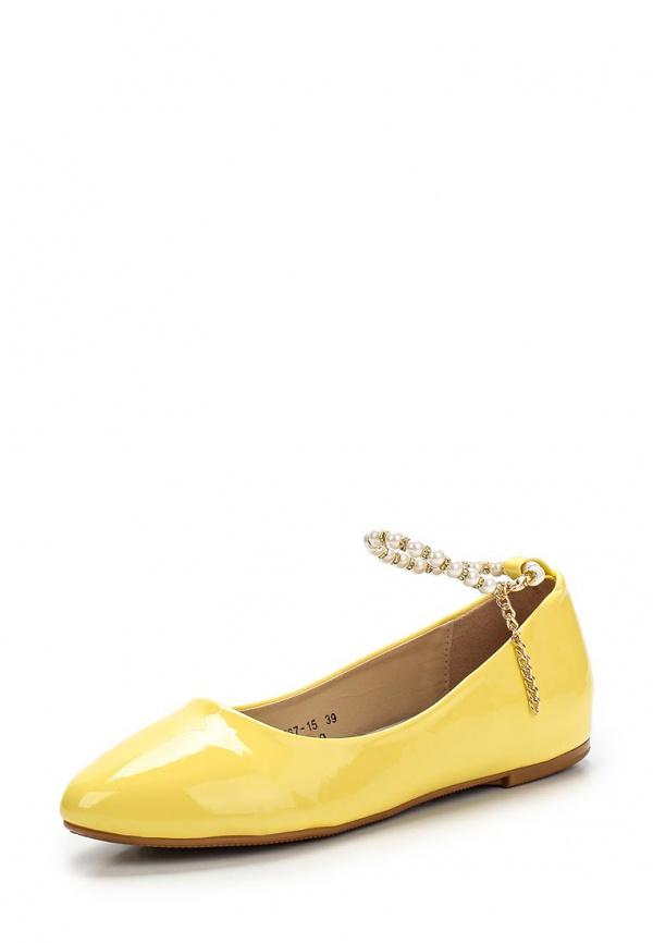 Балетки Vivian Royal J-013-9 жёлтые