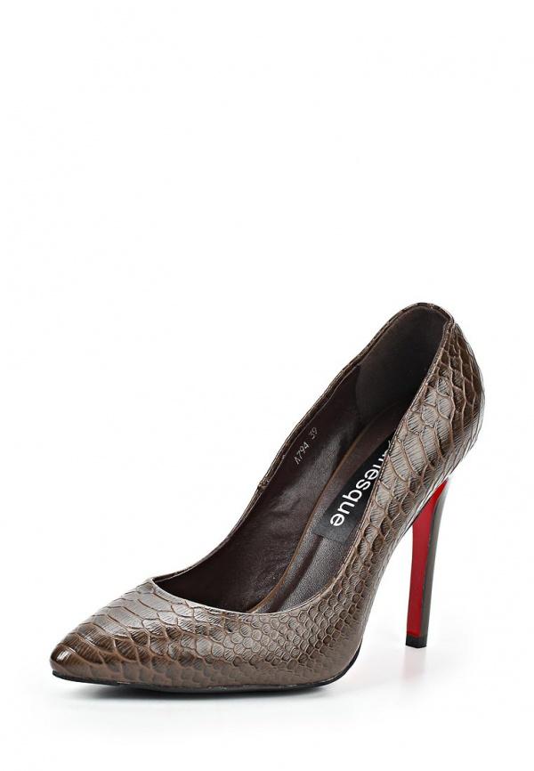 Туфли Burlesque HR12-1 коричневые